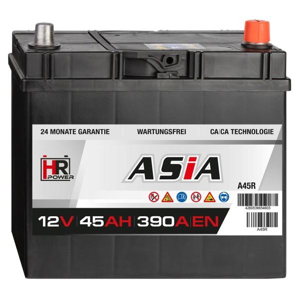 HR HiPower ASIA Autobatterie A45R 12V 45Ah