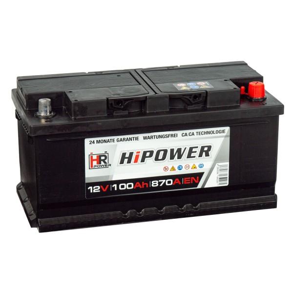 HR HiPower Autobatterie 12V 100Ah