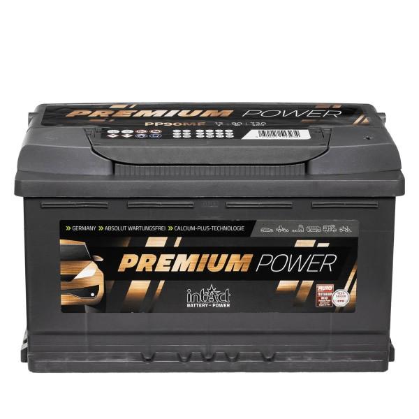 intAct Premium Power PP90MF Autobatterie 12V 90Ah