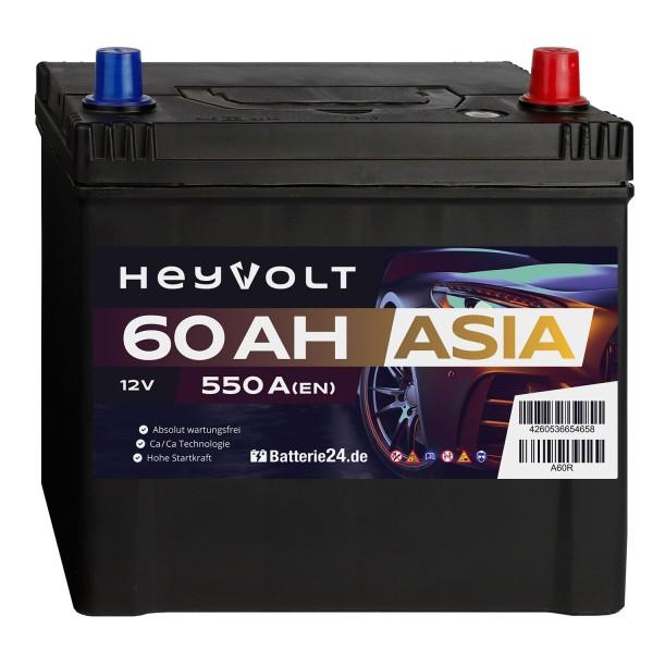 Target ASIA Autobatterie T60R 12V 60Ah Starterbatterie