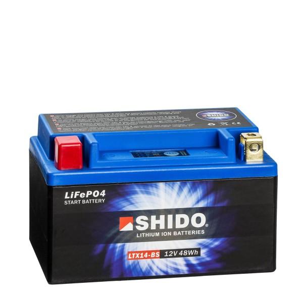 Shido Lithium Motorradbatterie LiFePO4 LTX14-BS 12V