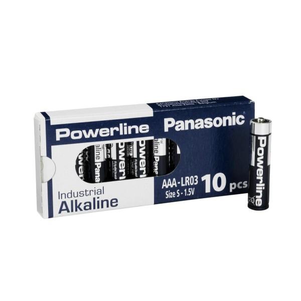 10x Panasonic Industrial Powerline AAA Micro LR03 Batterien