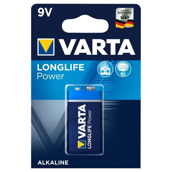 VARTA LONGLIFE Power 9V E-Block 4922 MN1604 Alkaline Batterie 1er Blister