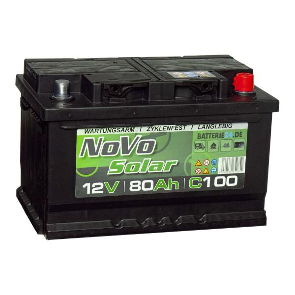 Novo Solar 12V 80Ah Versorgerbatterie