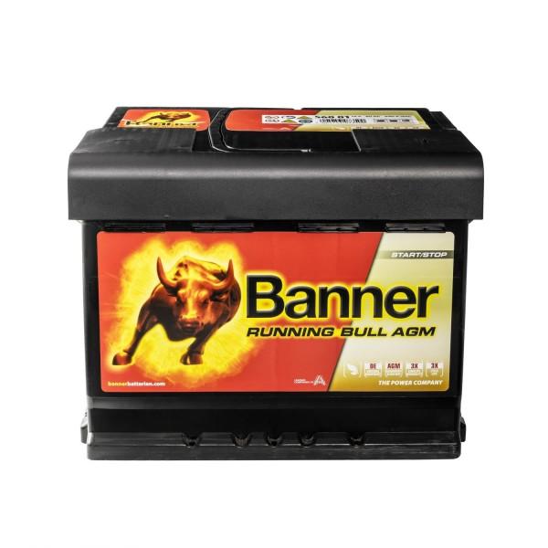 Banner Running Bull Autobatterie 12V 60Ah 56001 AGM