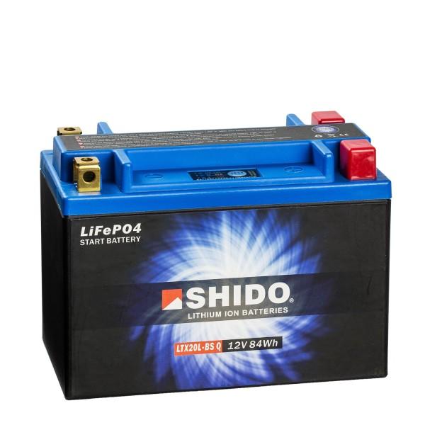 Shido Lithium Motorradbatterie LiFePO4 LTX20L-BS Q 12V