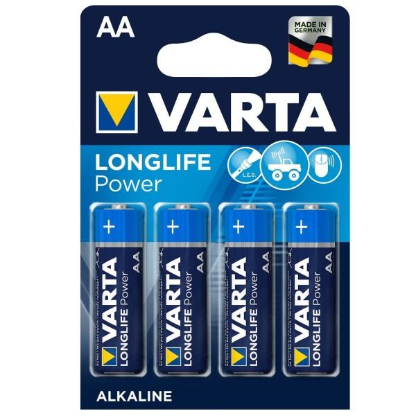 VARTA LONGLIFE Power Mignon AA 4906 LR6 MN1500 Alkaline Batterien 4er Blister