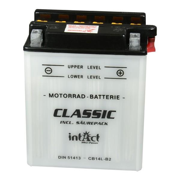 intAct Bike-Power Motorradbatterie Classic YB14L-B2 12V 14Ah 51413 trocken