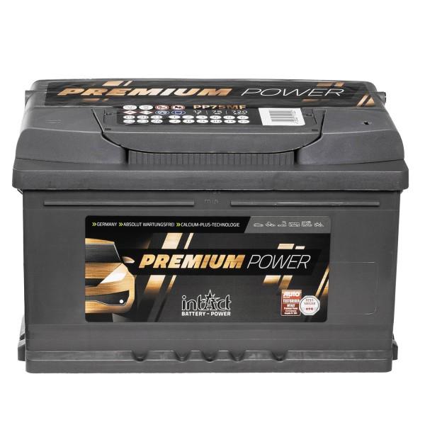 intAct Premium Power PP75MF Autobatterie 12V 75Ah