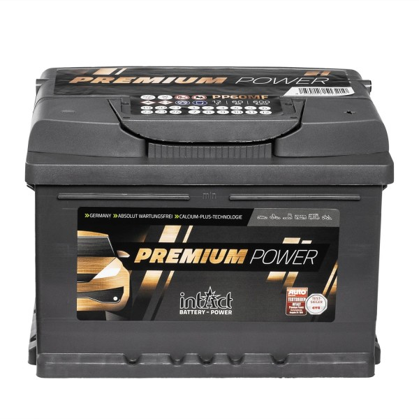intAct Premium Power PP60MF Autobatterie 12V 60Ah