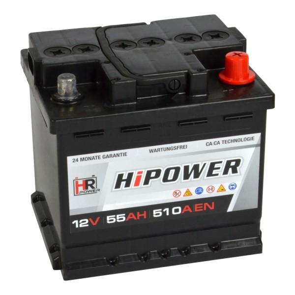 HR HiPower Autobatterie 12V 55Ah