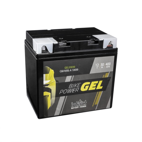 intAct Bike-Power Motorradbatterie GEL C60-N30L-A 12V 30Ah 53030 Gel53030