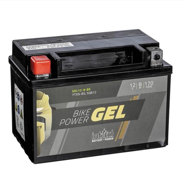 intAct Bike-Power Motorradbatterie GEL YTX9-BS 12V 8Ah YTX9-BS 50812 Gel12-9-BS