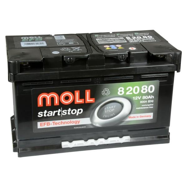 MOLL start stop EFB 12V 80Ah 82080 Autobatterie