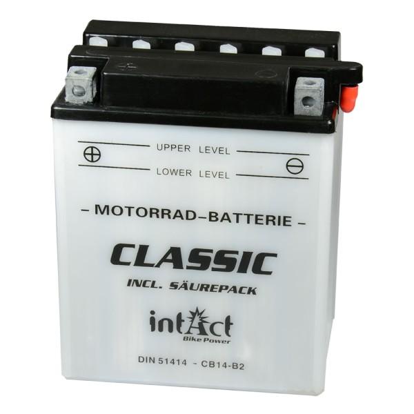 intAct Bike-Power Motorradbatterie Classic YB14-B2 12V 14Ah 51414 trocken
