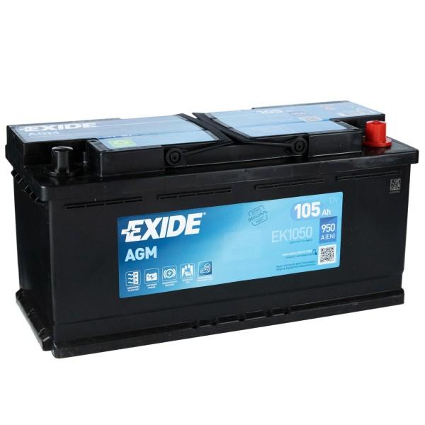 Exide EK1050 AGM Autobatterie 12V 105Ah