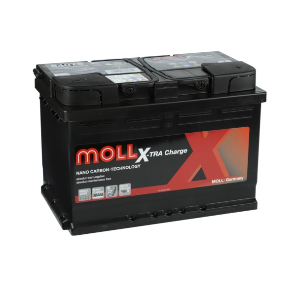 MOLL X-TRA Charge 12V 75Ah 84075 Autobatterie Starterbatterie