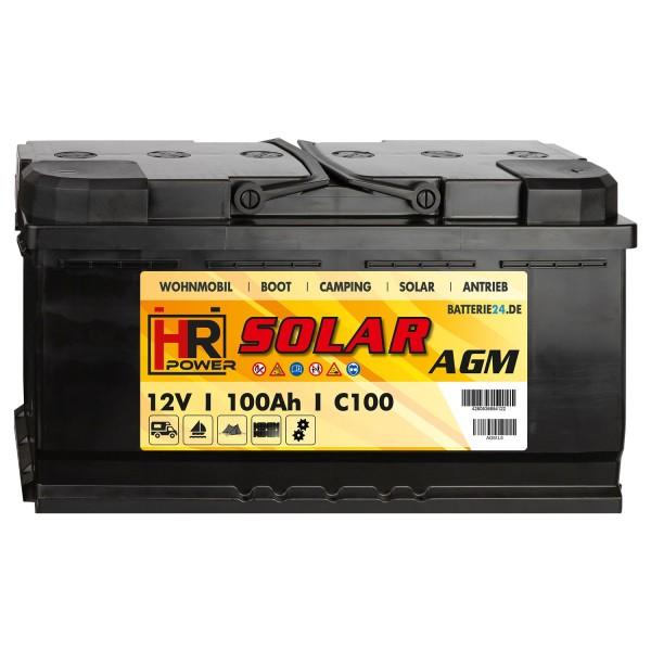 HR Solar AGM 12V 100Ah Versorgungsbatterie