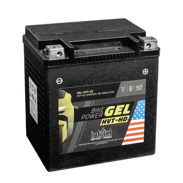 intAct Bike-Power Motorradbatterie HVT YIX30L-BS 12V 32Ah HVT-02 GEL