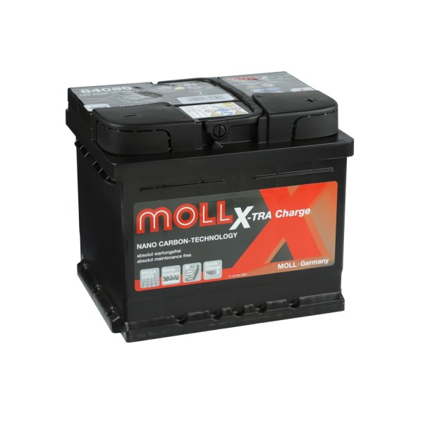 MOLL X-TRA Charge 12V 50Ah 84050 Autobatterie Starterbatterie