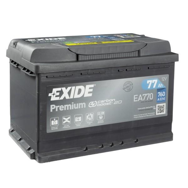 Exide Premium CARBON BOOST 2.0 EA770 Autobatterie 12V 77Ah