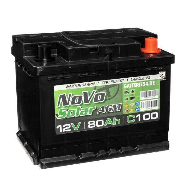 Novo Solar AGM 12V 80Ah Versorgerbatterie