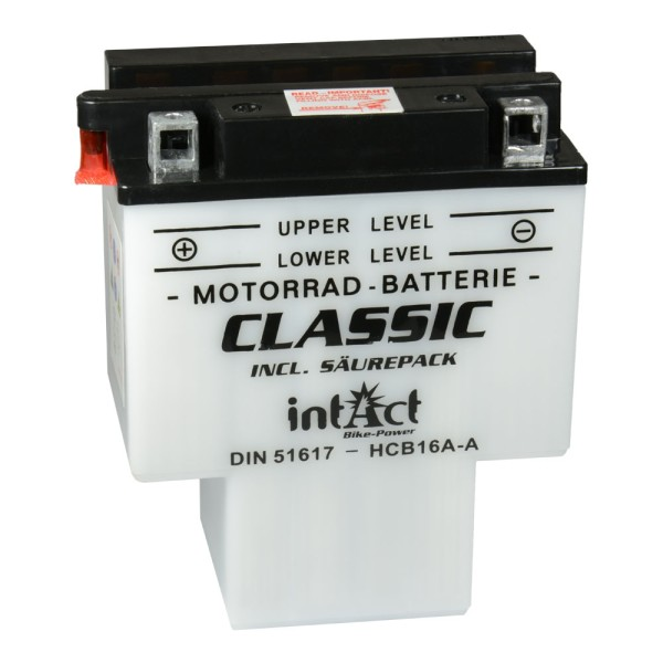 intAct Bike-Power Motorradbatterie Classic HCB16A-A(AB) 12V 16Ah 51617 trocken