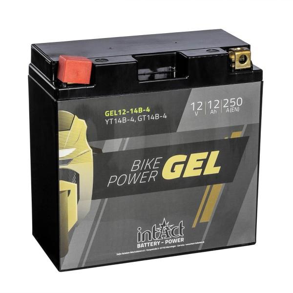 intAct Bike-Power Motorradbatterie GEL YT14B-4 12V 12Ah Gel12-14B-4