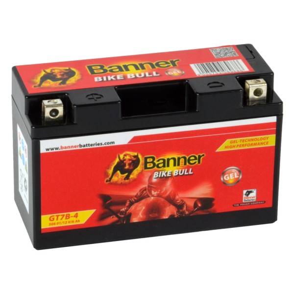 Banner Bike Bull Motorradbatterie GEL YT7B-BS 12V 6Ah 50601