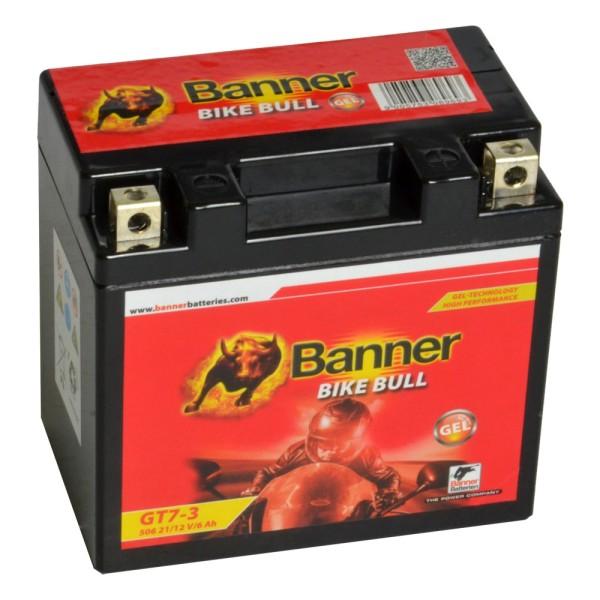 Banner Bike Bull Motorradbatterie GEL YTZ7-S GT7-3 12V 6Ah 50621