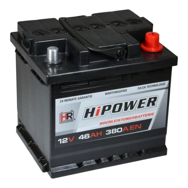 HR HiPower Autobatterie 12V 46Ah