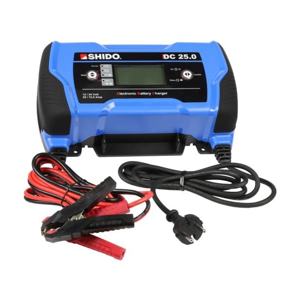 Shido DC 25.0 12V/24V 25A Lithium/Blei-Säure/AGM Batterieladegerät LiFePO4