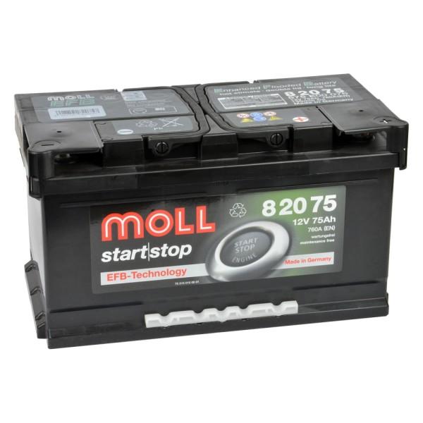 MOLL start stop EFB 82075 Autobatterie 12V 75Ah
