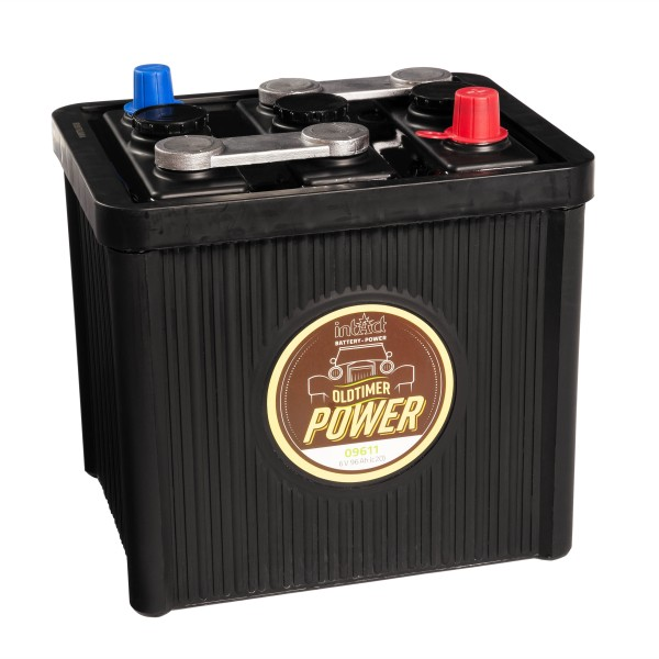 intAct Oldtimer-Power 09611 Autobatterie 6V 96Ah trocken