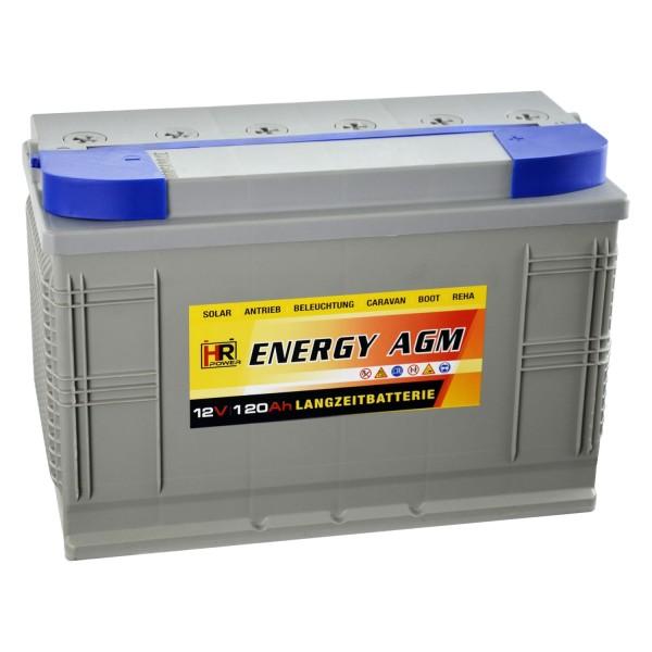 HR-ENERGY AGM Batterie 12V 120Ah