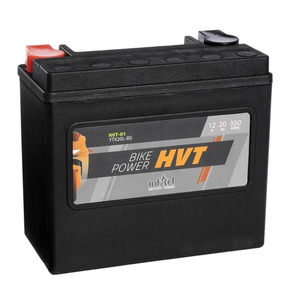 intAct Bike-Power Motorradbatterie HVT YTX20L-BS 12V 20Ah HVT-01