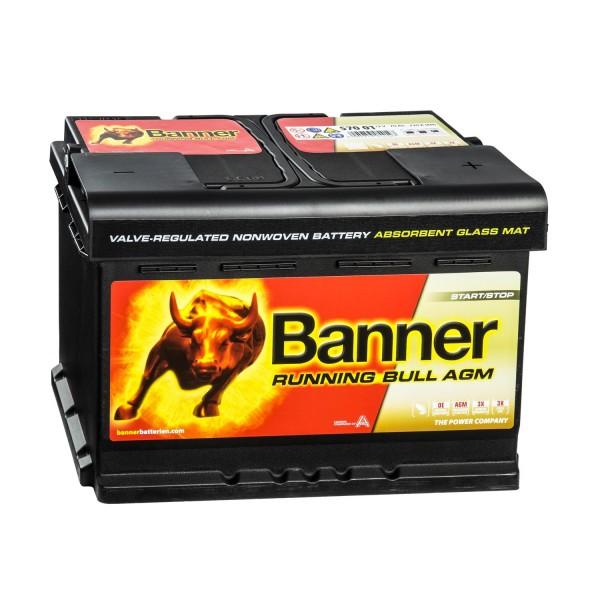 Banner Running Bull Autobatterie 12V 70Ah 57001 AGM