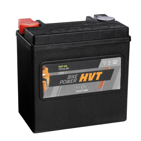 intAct Bike-Power Motorradbatterie HVT YTX14L-BS 12V 14Ah HVT-03