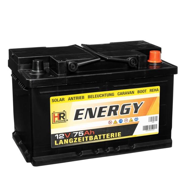 HR-ENERGY Batterie 12V 75Ah