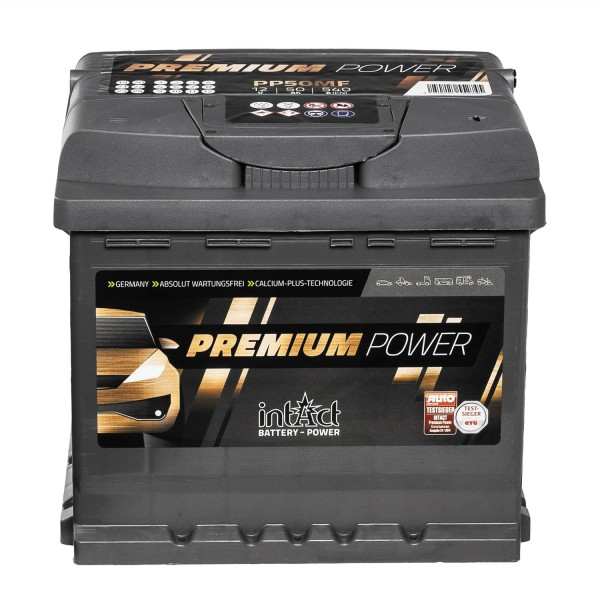 intAct Premium Power PP50MF Autobatterie 12V 50Ah