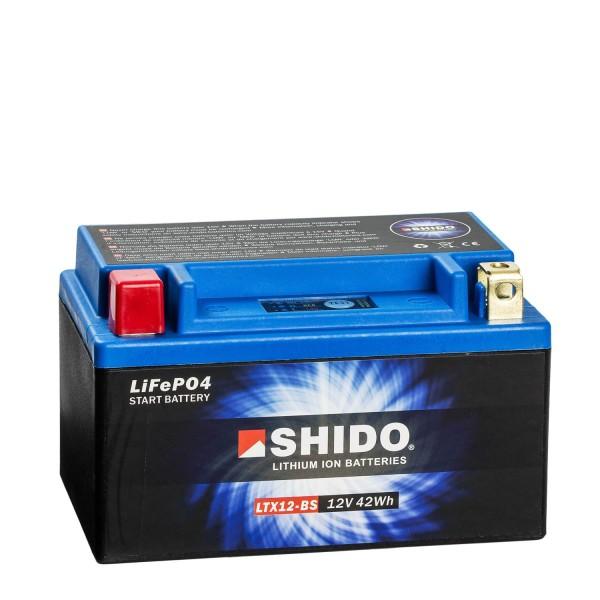 Shido Lithium Motorradbatterie LiFePO4 LTX12-BS 12V