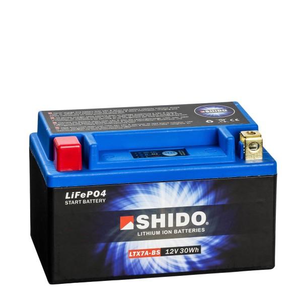 Shido Lithium Motorradbatterie LiFePO4 LTX7A-BS 12V