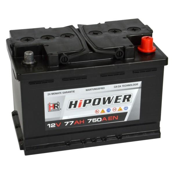 HR HiPower Autobatterie 12V 77Ah