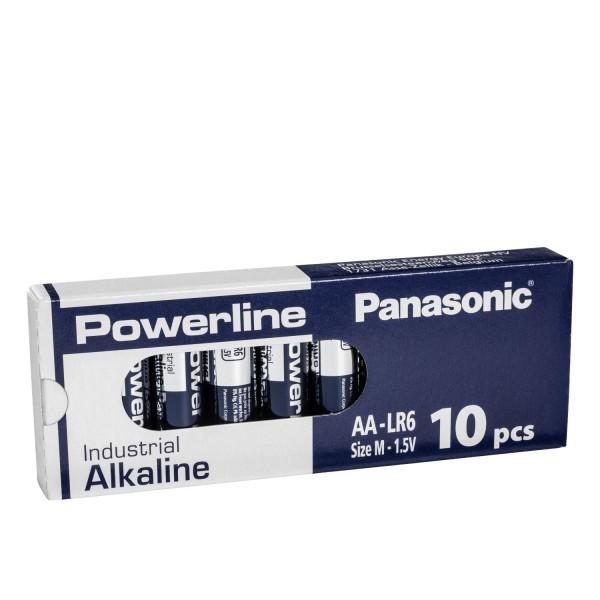 10x Panasonic Industrial Powerline AA Mignon LR6 Batterien