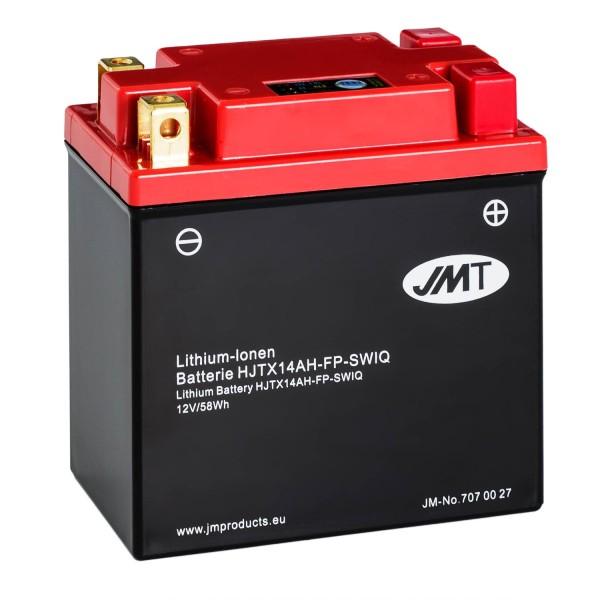 JMT Lithium-Ionen-Motorrad-Batterie HJTX14AH-FP 12V