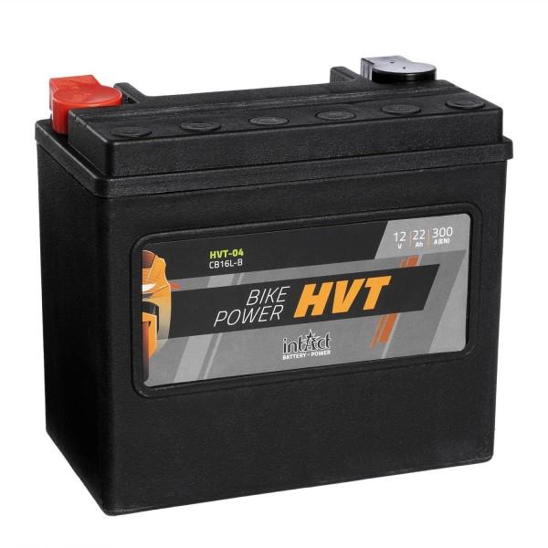 intAct Bike-Power Motorradbatterie HVT YB16L-B 12V 22Ah HVT-04