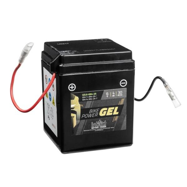 intAct Bike-Power Motorradbatterie GEL 6V 4Ah 6-6N4-2A 00411