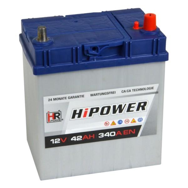 HR HiPower Autobatterie 12V 42Ah