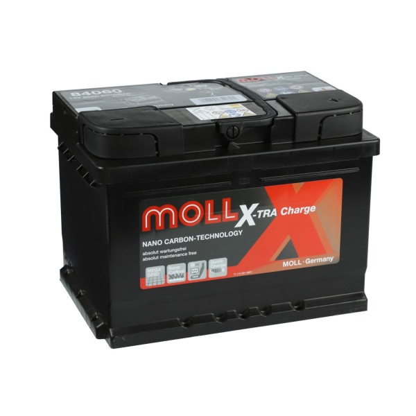 MOLL X-TRA Charge 12V 60Ah 84060 Autobatterie Starterbatterie