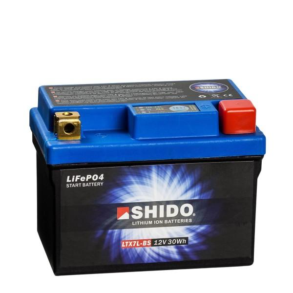 Shido Lithium Motorradbatterie LiFePO4 LTX7L-BS 12V
